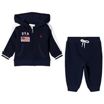 Ralph Lauren USA Branded Tracksuit Cruise Navy 002