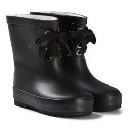 Kuling Black Comblux Rubber Boots with Lace