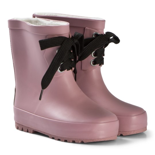 Kuling Pink Comblux Rubber Boots with Lace Pink