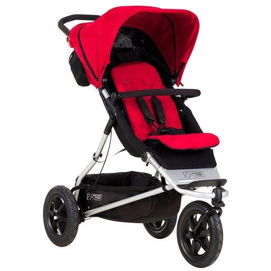Mountain Buggy Plus One Barnvagn Röd Red