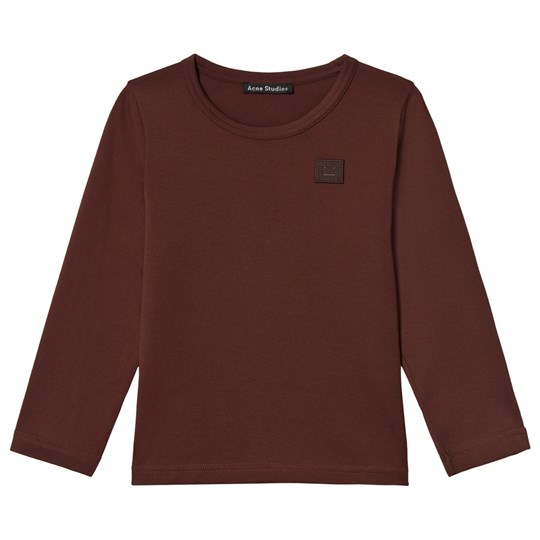 Acne Studios Mini Nash Face Long Tee Chocolate Brown Chocolate Brown