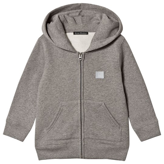 Acne Studios Mini Ferris Face Hoodie Light Grey Melange Light Grey Melange