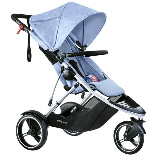 Phil and Teds Dash Stroller Blue Marl Blue