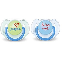 Philips Avent 2-Pack Fashion Soother 6-18M Blue/Green