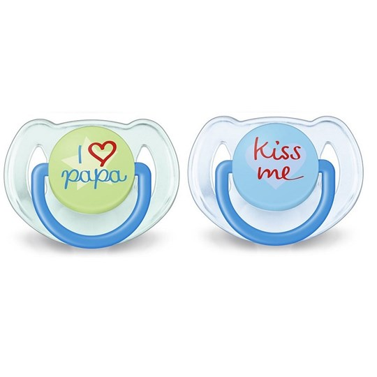 Philips Avent 2-Pack Fashion Soother 6-18M Blue/Green Multi