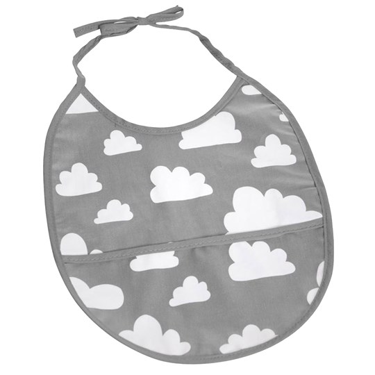 Färg & Form Clouds Bib Grey Sort