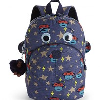 Kipling Navy Faster Multi Print and Googley Eyes Backpack 26B