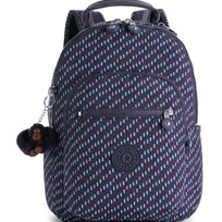 Kipling Navy Seoul Go S Patterned Backpack 28T
