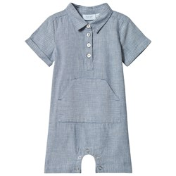 Noa Noa Miniature Jumpsuit Short Sleeve Faded Denim