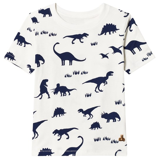 GAP Dinosaur White Short Sleeve T-Shirt White