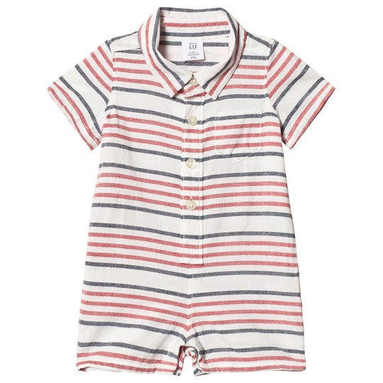 GAP Stripe Shorty Romper New Off White NEW OFF WHITE