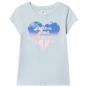Image of GAP Daybreak Blue Graphic T-Shirt XS (4-5 år) (3031529389)