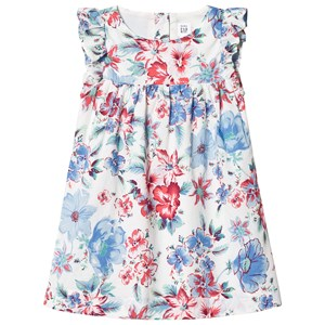 Image of GAP Floral Cascade Ruffle Dress 18-24 mdr (3065511443)