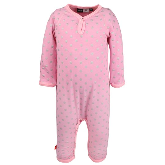 Molo Fiona Body Suit Silver Dot Pink