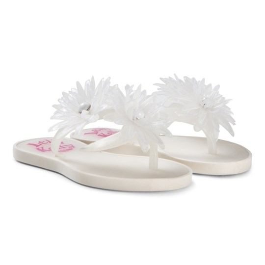 Lelli Kelly White Flower Kendra Flip Flops White