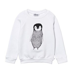 Image of Tobias & The Bear White Percy the Penguin Sweatshirt 12-18 months (634428)