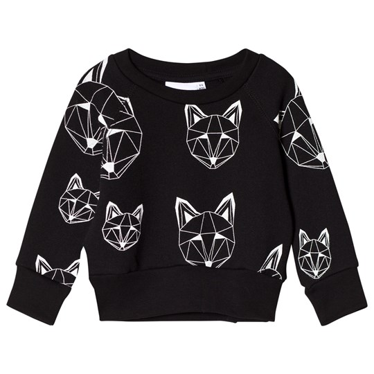 Tobias & The Bear Black Fox Print Sweatshirt Black