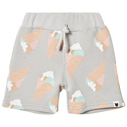 Tobias & The Bear Grey Ice Cream Print Sweatshorts