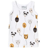 Tobias & The Bear White Balloon Buddies Tank Top White