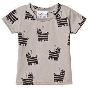Image of Tobias & The Bear Taupe Piñata Print T-Shirt 5-6 years (1157148)
