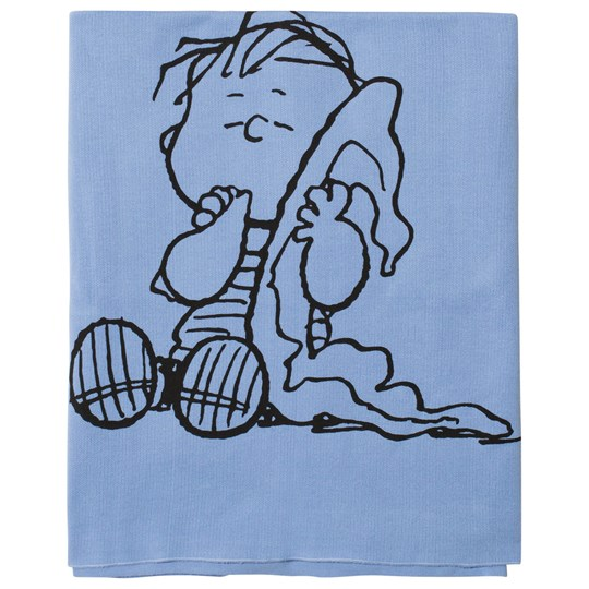 Tobias & The Bear Blue Linus Knitted Blanket Blue Coloured Base