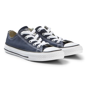 Image of Converse Navy Chambray Chuck Taylor All Star OX Junior Trainers 34 (UK 2) (2884169687)