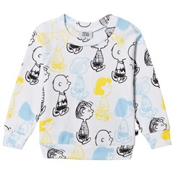 Tobias & The Bear White and Multi Coloured Peanuts Characters Lightweight Sweatshirt