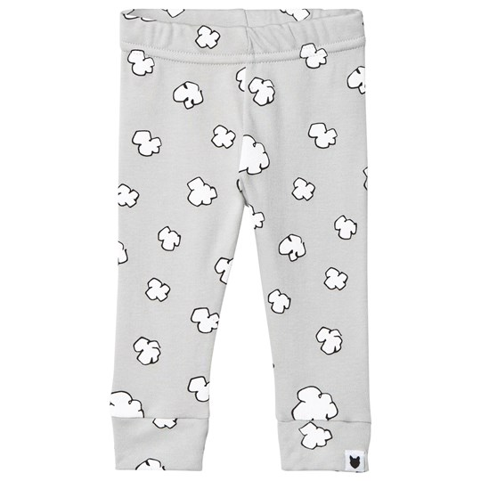 Tobias & The Bear Pale Grey Coloured Base Clouds Leggings Pale Grey