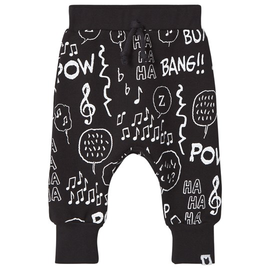 Tobias & The Bear Black Notes Loopback Sweatpants Black Coloured Base