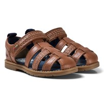 Kickers Orin Leather Sandals Brown Tan Leather