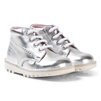 Kickers Kick Hi Boots Silver Silver Mt Leather