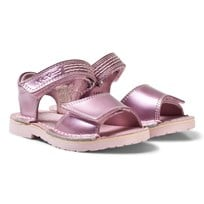 Kickers Adlar San Sandals Patent Light Pink Pink Patent Leather
