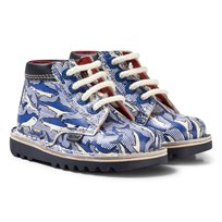 Kickers Joules x Kickers Kick Hi Boots Shark Stripe Blue Blue Leather
