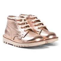 Kickers Kick Hi Boots Rose Gold Rose Gold Mt Leather