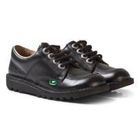 Kickers Kick Lo School Shoes Black Black