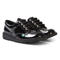Kickers Kick Lo School Shoes Patent Black BLACK PATENT