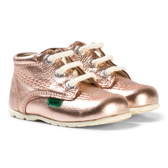Kickers Kick Hi B Baby Shoes Rose Gold Rose Gold