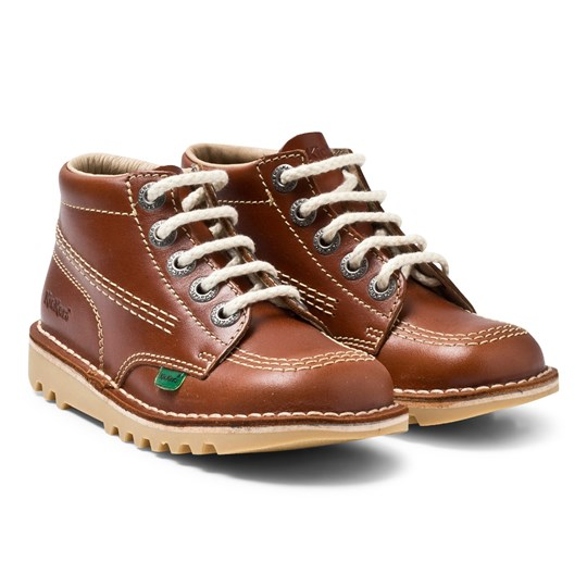 Kickers Kick Hi Boots Dark Tan Tan