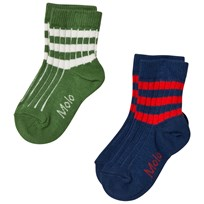 Molo 2-Pack Nickey Socks Field Green Field Green