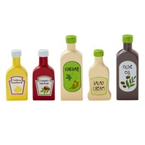 Kids Concept 5-Pack Pantry Bottle Play Set Natural