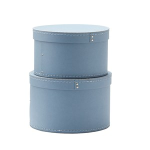 Image of Kids Concept 2-Pack Round Storage Boxes Blue (3031526285)