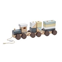 Kids Concept Wooden Block Train Natural Natural