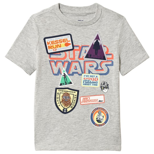 Gap Star Wars Patch T-shirt Ljusgrå Heather Light Heather Grey B08