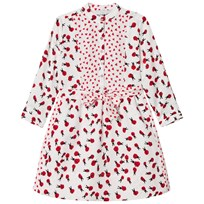 Stella McCartney Kids White Ladybugs Print Camille Dress 9083
