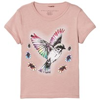 Stella McCartney Kids Light Pink Bird Print Lizzie Tee 5768
