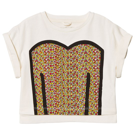 Stella McCartney Kids White Sequins Print Plum Tee 9232