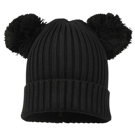 Mini Rodini Ear Hat Black Black