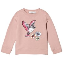 Stella McCartney Kids Light Pink Bird Print Estelle Sweater 5768