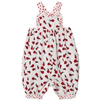 Stella McCartney Kids White Ladybugs Desiree Overalls 9083