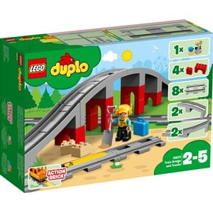 Image of LEGO DUPLO 10872 LEGO® DUPLO® Train Bridge and Tracks One Size (1045955)